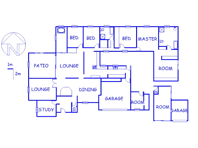 Floor plan of the property in Lakeside