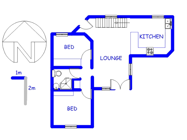 Floor plan of the property in Bloubergrant