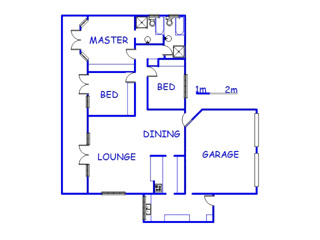 Floor plan of the property in Umtentweni