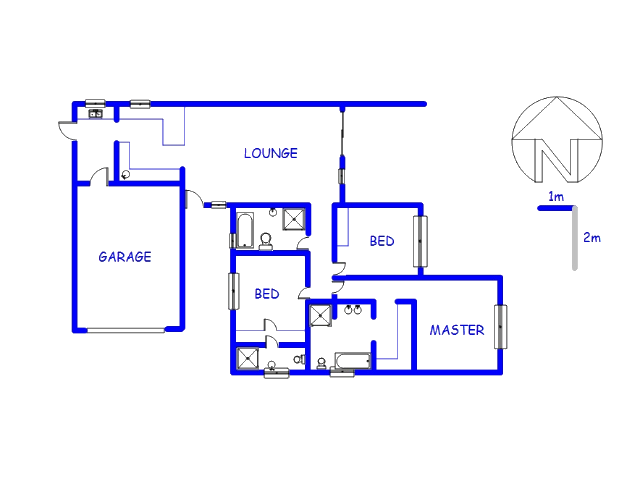 Floor plan of the property in Thatchfields