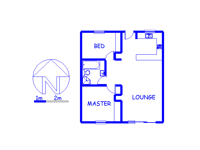 Floor plan of the property in Rosendal