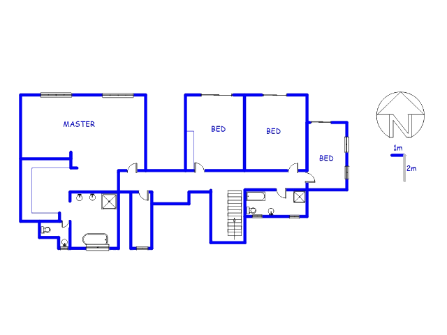 Floor plan of the property in Eldoraigne