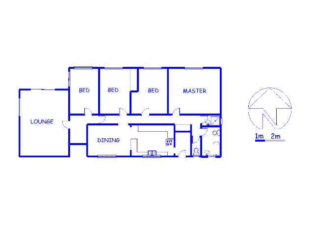 Floor plan of the property in Brooklyn