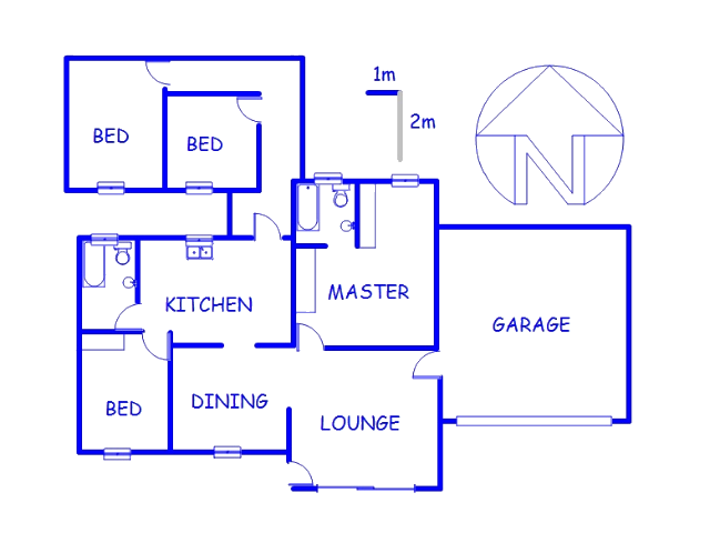 Floor plan of the property in Katlehong