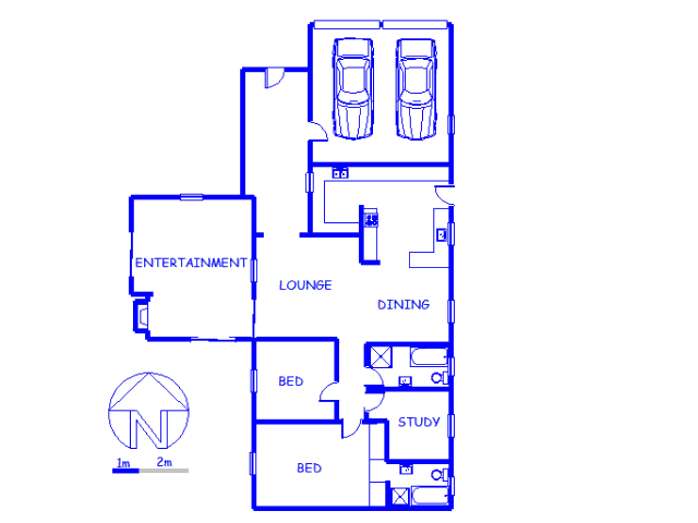 Floor plan of the property in Kleinbosch