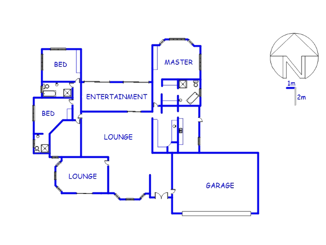 Floor plan of the property in Montana Park
