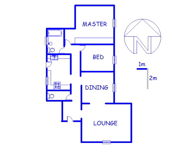 Floor plan of the property in Linden