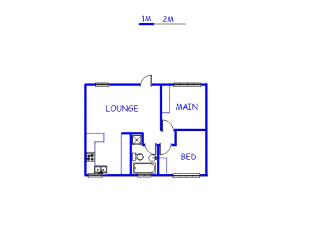 Floor plan of the property in Namakgale