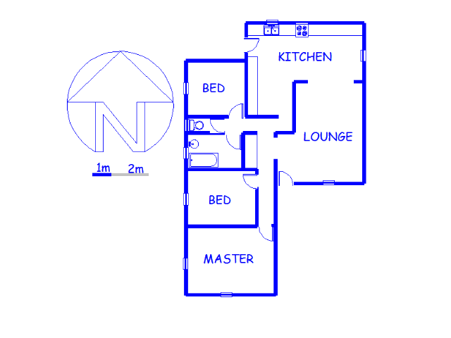 Floor plan of the property in Chrisville