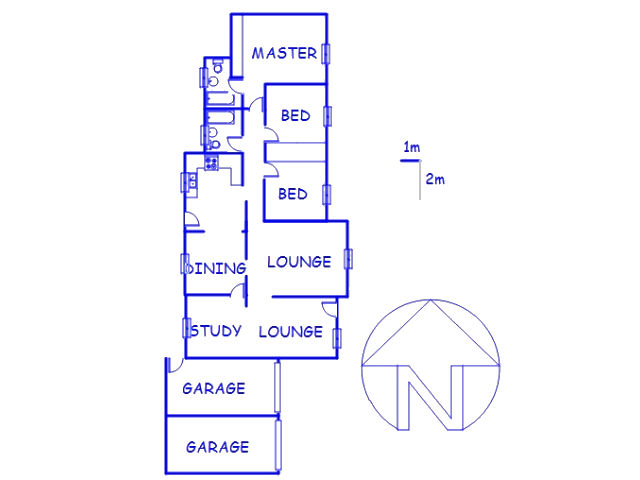Floor plan of the property in Roodepoort North