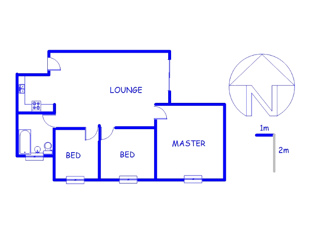 Floor plan of the property in Westdene