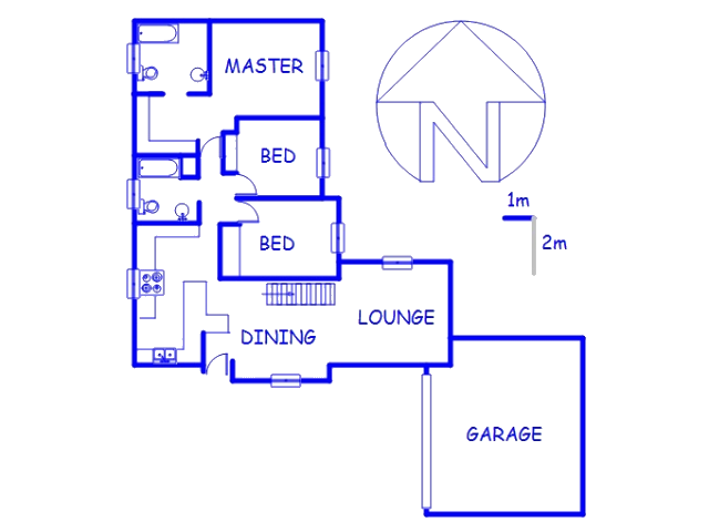 Floor plan of the property in Northwold