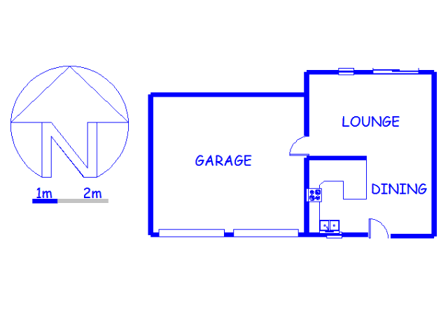 Floor plan of the property in Elandspark