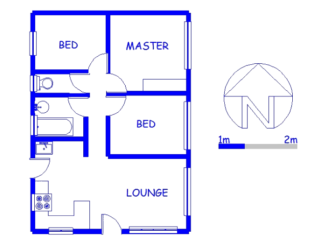 Floor plan of the property in Wiggins