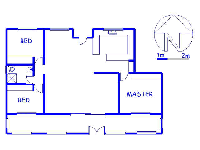 Floor plan of the property in Leisure Bay