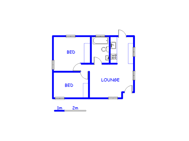 Floor plan of the property in Westridge CP