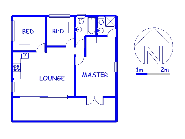 Floor plan of the property in Munster