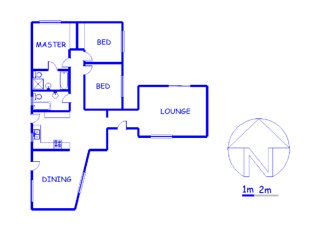 Floor plan of the property in Meyerspark