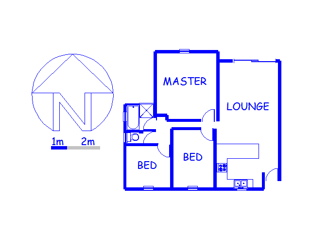 Floor plan of the property in Wannenburghoogte