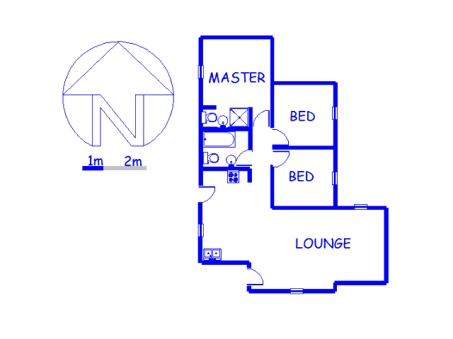 Floor plan of the property in Goudrand