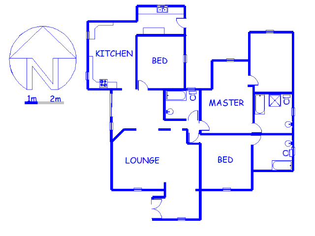 Floor plan of the property in The Hill