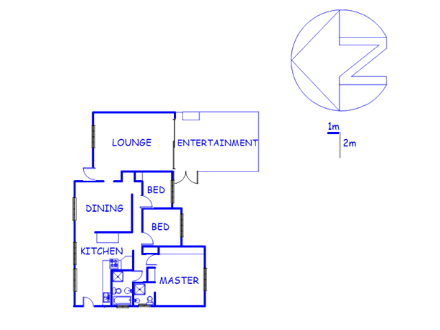 Floor plan of the property in Sunnyrock