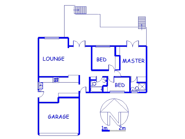Floor plan of the property in Durban North