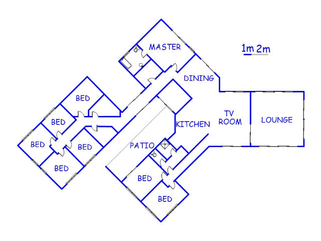 Floor plan of the property in St Francis Bay