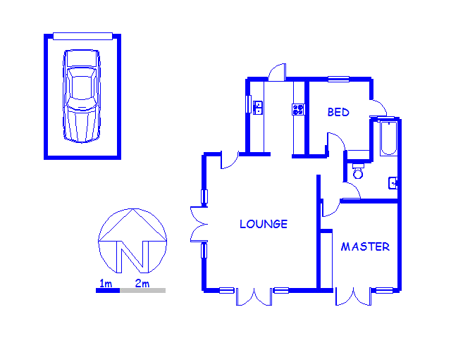 Floor plan of the property in West Beach