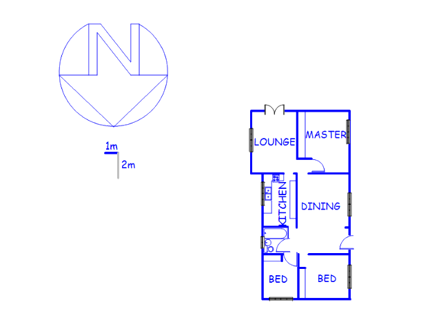 Floor plan of the property in Albertville