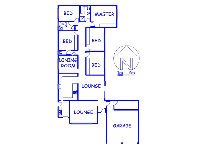 Floor plan of the property in Motalabad
