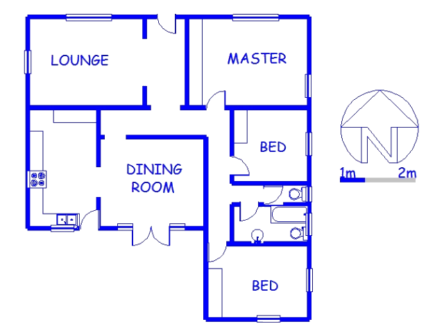 Floor plan of the property in Park Hill
