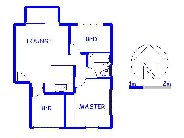Floor plan of the property in Montclair (Dbn)