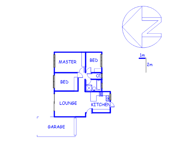 Floor plan of the property in Chantelle