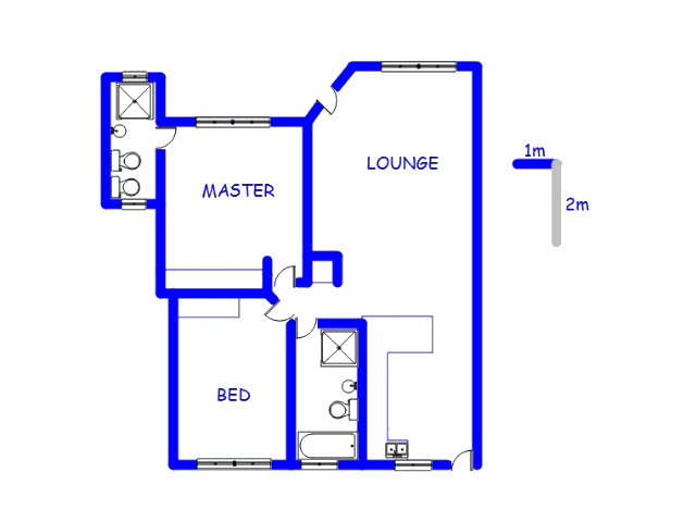 Floor plan of the property in President Park A.H.