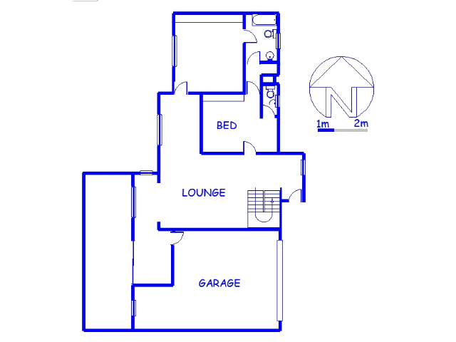 Floor plan of the property in Hillcrest - KZN