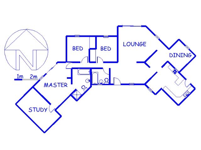 Floor plan of the property in Klipwater