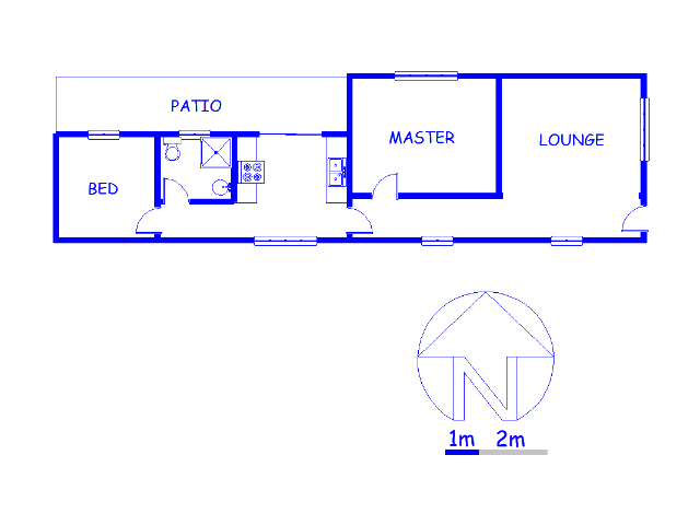 Floor plan of the property in Zonnebloem