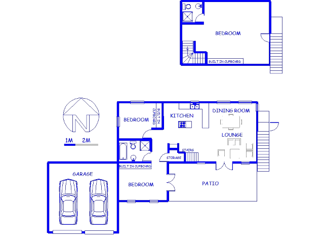 Floor plan of the property in Jacobs Bay
