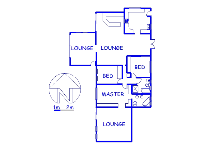 Floor plan of the property in University Durban Westville