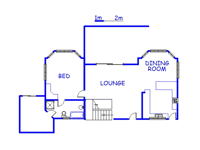Floor plan of the property in Winterton
