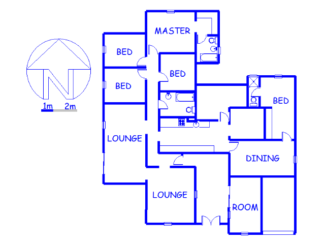 Floor plan of the property in Kempton Park