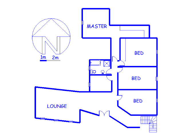 Floor plan of the property in Bassonia