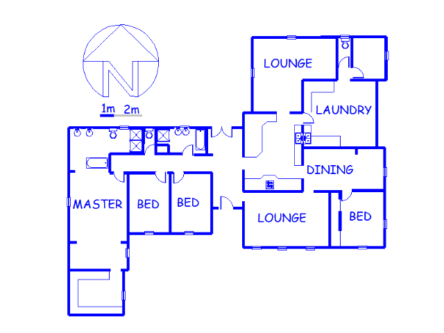 Floor plan of the property in Florida Park