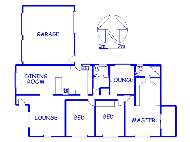 Floor plan of the property in Red Hill