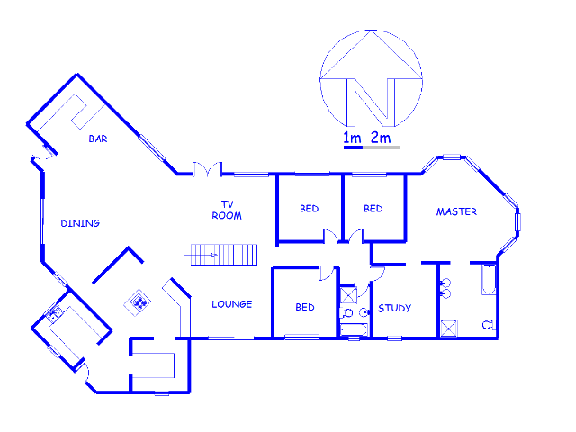 Floor plan of the property in Rietfontein - Pretoria East