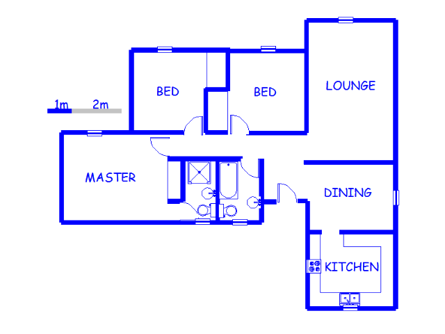 Floor plan of the property in Lilianton