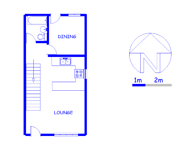 Floor plan of the property in Rietfontein