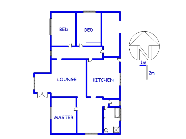 Floor plan of the property in Dalview
