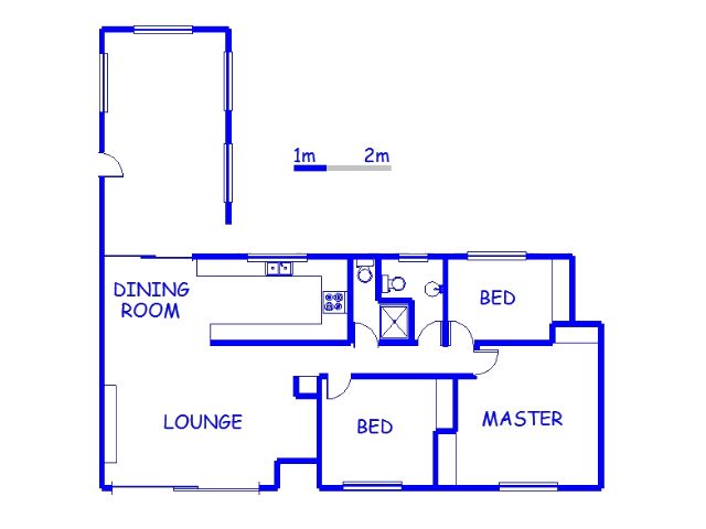 Floor plan of the property in Glenmore
